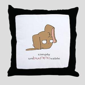 unBUNNYvable Throw Pillow