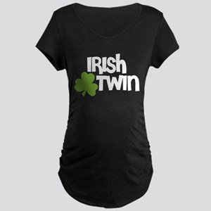 Irish Twin Shamrock Maternity T-Shirt