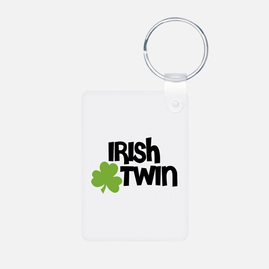Irish Twin Shamrock Keychains