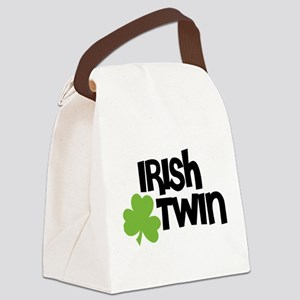 Irish Twin Shamrock Canvas Lunch Bag