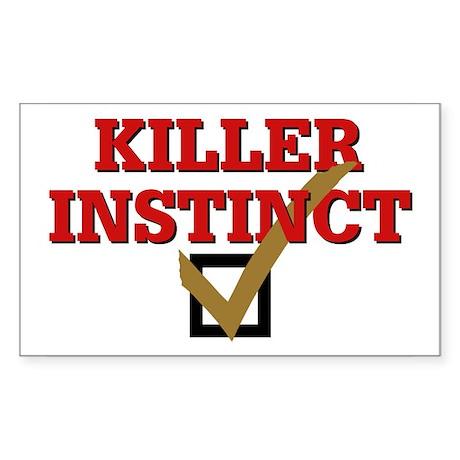 Killer Instinct Rectangle Sticker