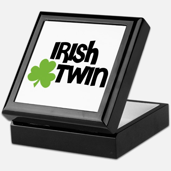 Irish Twin Shamrock Keepsake Box