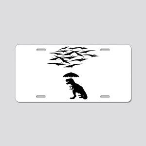 T-Rex vs the Pterodactyls Aluminum License Plate