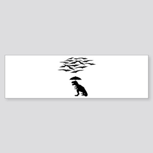T-Rex vs the Pterodactyls Bumper Sticker