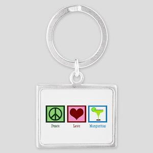 Peace Love Margaritas Landscape Keychain