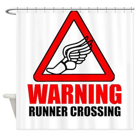 Warning: Runner Shower Curtain