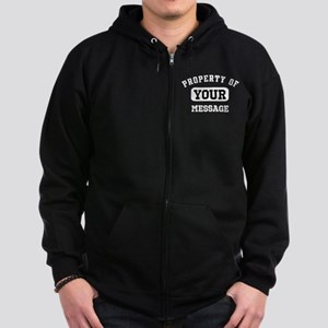 Personalized PROPERTY OF... Zip Hoodie (dark)