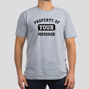 Personalized PROPERTY OF... Men's Fitted T-Shirt (