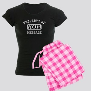 Personalized PROPERTY OF... Women's Dark Pajamas