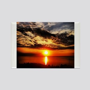 Sunrise of Fire Rectangle Magnet