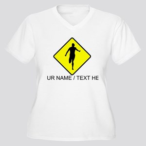 Runner Crossing Plus Size T-Shirt