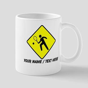 Tennis Player Crossing Mug