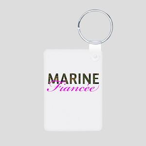 Marine Fiancee Woodland Aluminum Photo Keychain