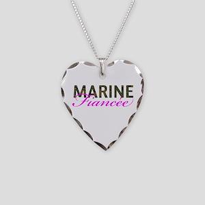 Marine Fiancee Woodland Necklace Heart Charm