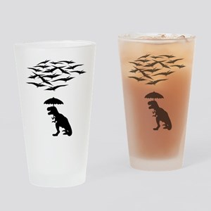 T-Rex vs the Pterodactyls Drinking Glass
