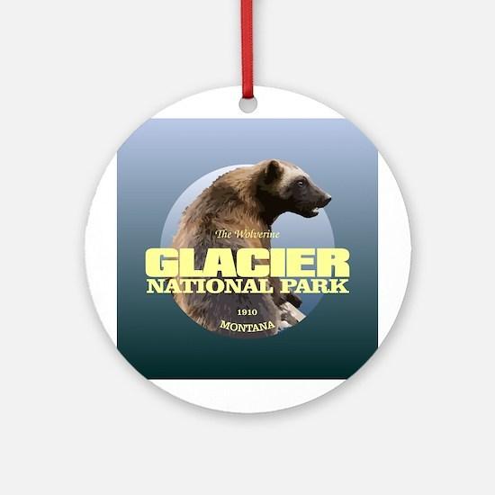 Glacier NP Round Ornament