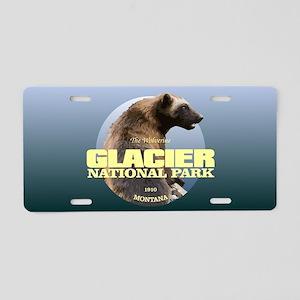 Glacier NP Aluminum License Plate