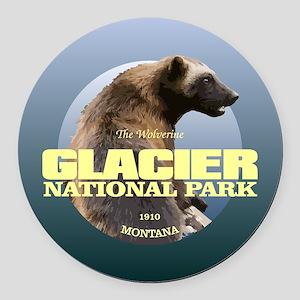 Glacier NP Round Car Magnet