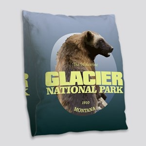 Glacier NP Burlap Throw Pillow