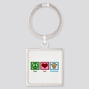 Cute Veterinarian Square Keychain