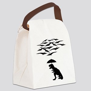 T-Rex vs the Pterodactyls Canvas Lunch Bag
