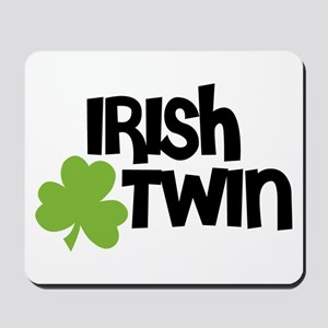 Irish Twin Shamrock Mousepad