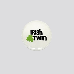 Irish Twin Shamrock Mini Button