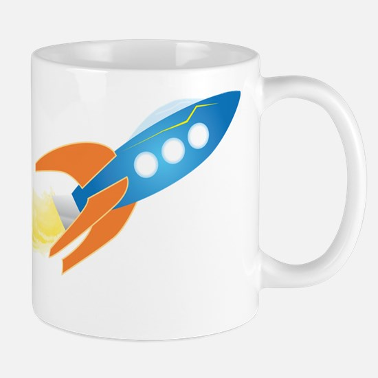 From 1 to 26,000 ft per second kids Rocket Mug