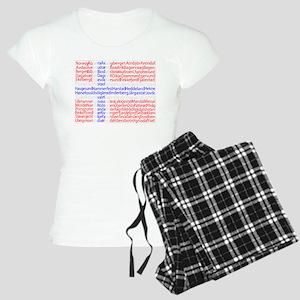 Norwegian Cities Flag Women's Light Pajamas