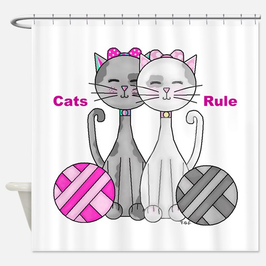 Cats Rule Shower Curtain