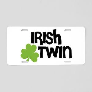 Irish Twin Shamrock Aluminum License Plate