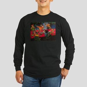 Night Feast Cats Long Sleeve T-Shirt