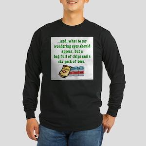 Christmas Poem for Men Long Sleeve T-Shirt