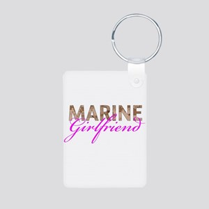 Marine Girlfriend Desert Aluminum Photo Keychain