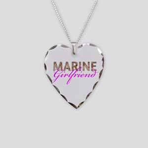 Marine Girlfriend Desert Necklace Heart Charm