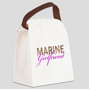Marine Girlfriend Desert Canvas Lunch Bag