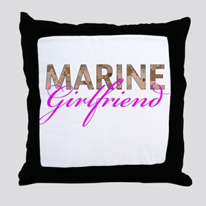 Marine Girlfriend Desert Throw Pillow