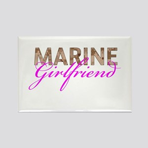 Marine Girlfriend Desert Rectangle Magnet