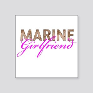 "Marine Girlfriend Desert Square Sticker 3"" x 3"""