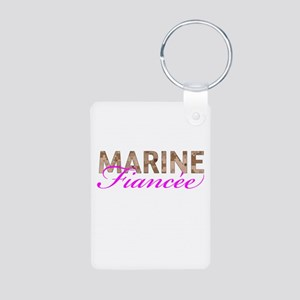 Marine Fiancee Desert Aluminum Photo Keychain