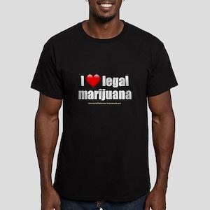 """Love Legal Marijuana"" Men's Fitted T-Shirt (dark)"