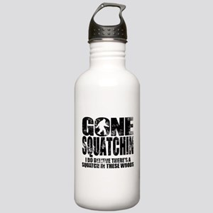 Gone Squatchin (distressed faded) Water Bottle