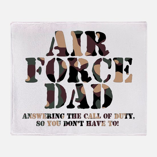 AF Dad Answering Call Throw Blanket