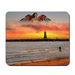 Angel Lighthouse - Mousepad
