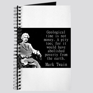 Geological Time Is Not Money - Twain Journal