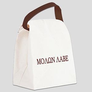 Molon Labe Black border Canvas Lunch Bag