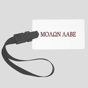 Molon Labe Black border Luggage Tag