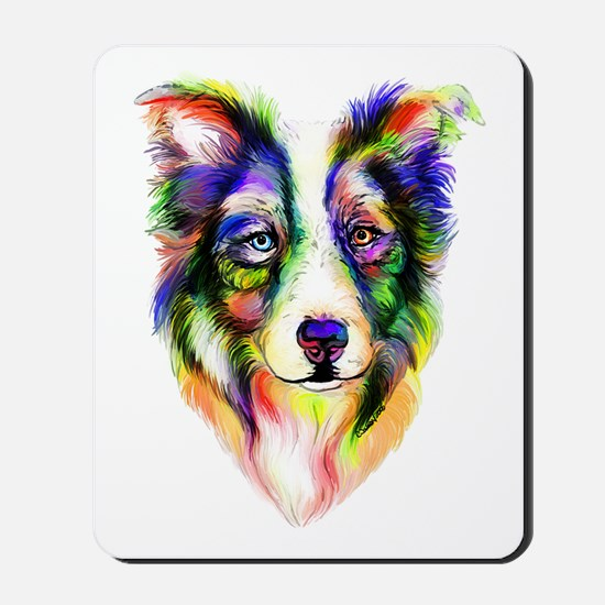 Bright Border Collie Mousepad