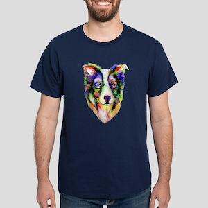 Bright Border Collie Dark T-Shirt