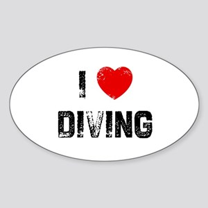 I * Diving Oval Sticker